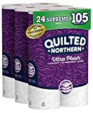 Quilted Northern Ultra Plush Toilet Paper, 24 Supreme Rolls, 24 = 99 Regular Rolls, 3 Ply Bath Tissue,8 Count (Pack of 3)