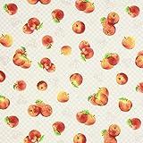 Fabulous Fabrics Canvas Äpfel – beige — Meterware ab