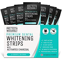 Pro Teeth Whitening Co Charcoal Whitening Strips