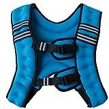 BODY RAJA パワー ウェイトベスト 10kg ウェイト ジャケット ベルト (ブルー)