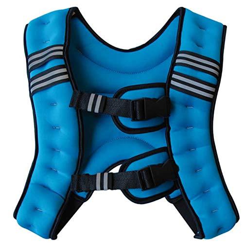 BODY RAJA パワーウェイトベスト 10kg ウェイト ジャケット ベルト (ブルー)