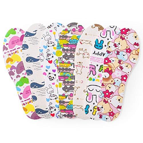 Shaoyanger - Almohadilla para calzado para niños (látex, EVA ultraligera, suave y absorbente), diseño de dibujos animados, protector transpirable