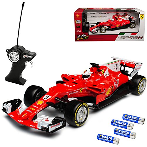 Maisto Ferrari SF70-H Sebastian Vettel Nr 5 Formel 1 2017 27 MHz RC Funkauto - inklusive Batterien - sofort startklar 1/24 Modell Auto*