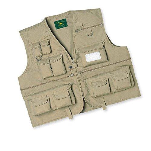 Crystal River C/R Fly Fishing Vest ,Khaki, XX-Large