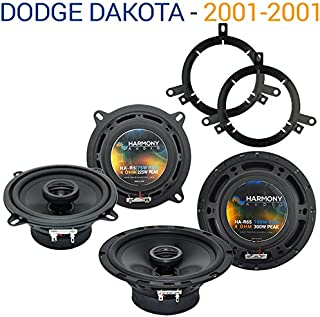 Compatible with Dodge Dakota 2001-2001 Factory Speaker Upgrade Harmony R65 R5 Package New