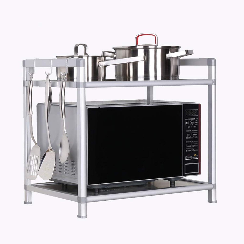 Kitchen Storage Rack Microwave Oven Rack 2-Layer Laminate Board Super Load Bearing Kitchen Storage Shelf Organisation (Size   Width-53cm)