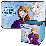Disney Alfombra Infantil y Caja Juguetes Plegable, Pack Frozen 2 – Decoracion Habitacion Infantil...
