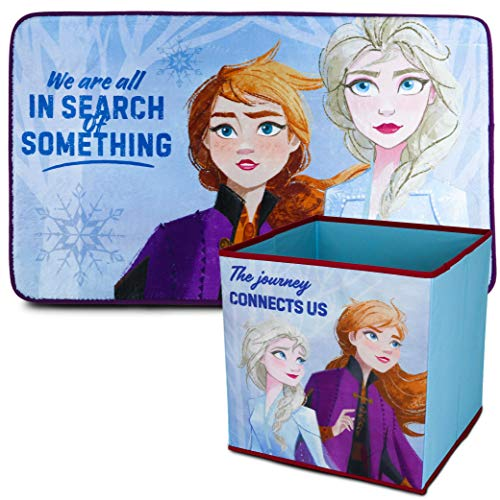 Disney Alfombra Infantil y Caja Juguetes Plegable, Pack Frozen 2 – Decoracion...