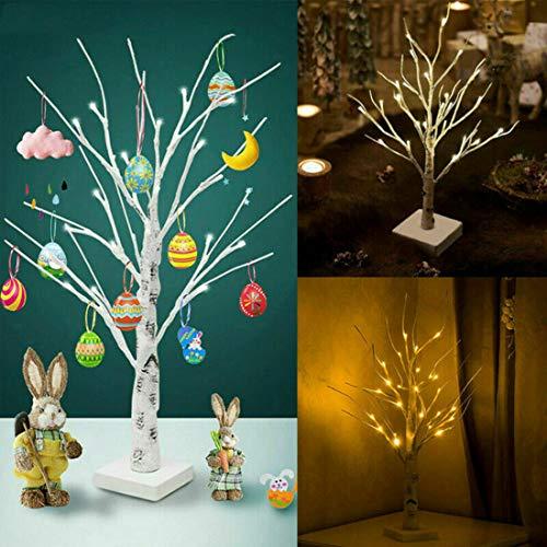Osterbaum Weihnachtsschmuck mit LED-Beleuchtung, Zweig-Baum zum Aufhängen von Eiern, Geschenk