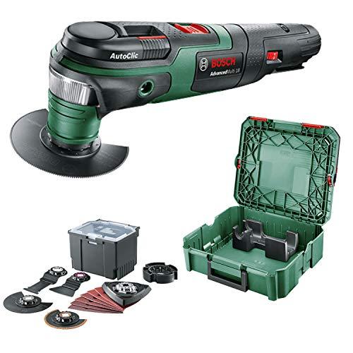 Bosch Multiherramienta AdvancedMulti 18 (sin batería, sistema de 18 V, set universal de accesorios, en SystemBox | tamaño S) - Amazon Edición