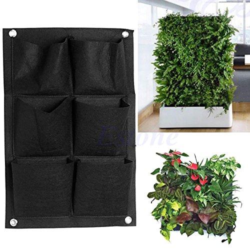Kofun Pflanztaschen zum Aufhängen, vertikaler Garten mit 6 Taschen, für Pflanzen und Kräuter