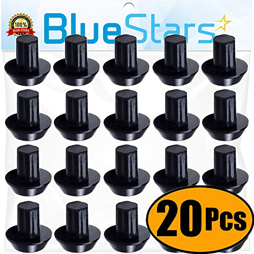 Ultra Durable WB2K101 Range Burner Grate Rubber Feet Kit Replacement by Blue Stars - Exact Fit For GE Kenmore Hotpoint Burner Grate - Replaces WB02K0101 247410 AP2622260 PS241358 - PACK OF 20
