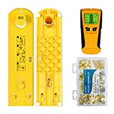 Picture Hanging Tool Kit - Stud Finder Sensor Wall Scanner Wood Detector in Wall - Easy Wall Frame Picture Hanging Tool - 220 Pieces Hardware, Electronic Wood Stud Finder, Easy Frame Hang and Level