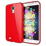 NALIA Funda Carcasa Compatible con Samsung Galaxy S4, Protectora Movil Silicona Ultra-Fina Gel Bumper, Goma Telefono Cubierta Jelly Cobertura Delgado Cover Smart-Phone Case - Rojo