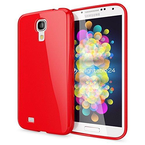 NALIA Custodia compatibile con Samsung Galaxy S4, Protezione Ultra-Slim Case Protettiva Morbido Cellulare in Silicone Gel, Gomma Jelly Telefono Cover Smartphone Bumper Sottile - Rosso
