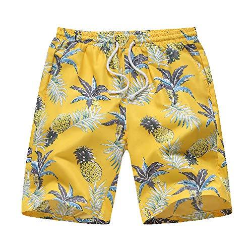 Verano Nuevos Hombres Hawaiiin Broken Flowere Ocio Pantalones De Playa Pantalones Cortos Respirables Y Transpirables para Hombres