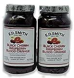 E.D. Smith Black Cherry, Raspberry & Blood Orange Fruit Spread- With 40% Less Sugar Than Regular Preserves (2 x 27.5 oz)