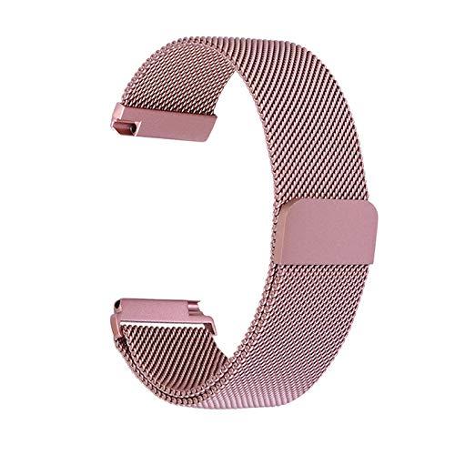 Zidao Correa de Reloj, Pulsera magnética Copia de Seguridad de Malla de Acero Inoxidable Trenzado de Acero Inoxidable fácil de Chapado Correa de Repuesto,1