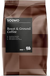 Marca Amazon - Solimo Café Molido Aroma Compatible con Todos los Usos de Café Molido - Certificada UTZ - 1,36Kg (6 Paquete...
