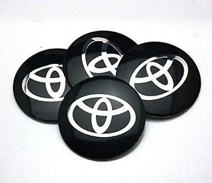 BENZEE 4pcs D120 Black 56.5mm Car Emblem Badge Sticker Wheel Hub Caps Centre Cover TOYOTA