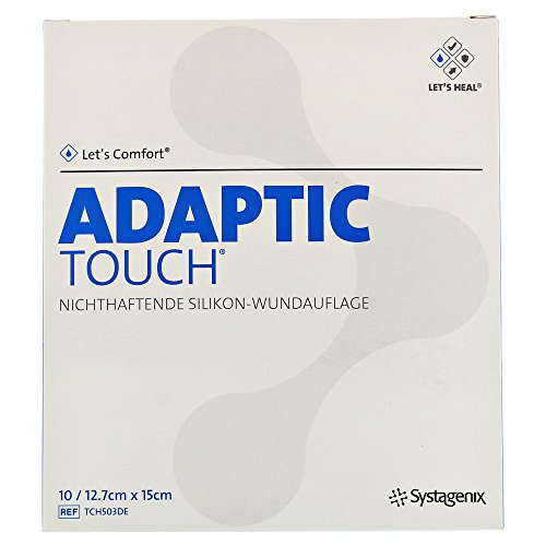 Adaptic Touch 12,7x15 cm Nichthaftende Silikon-Wundauflage,