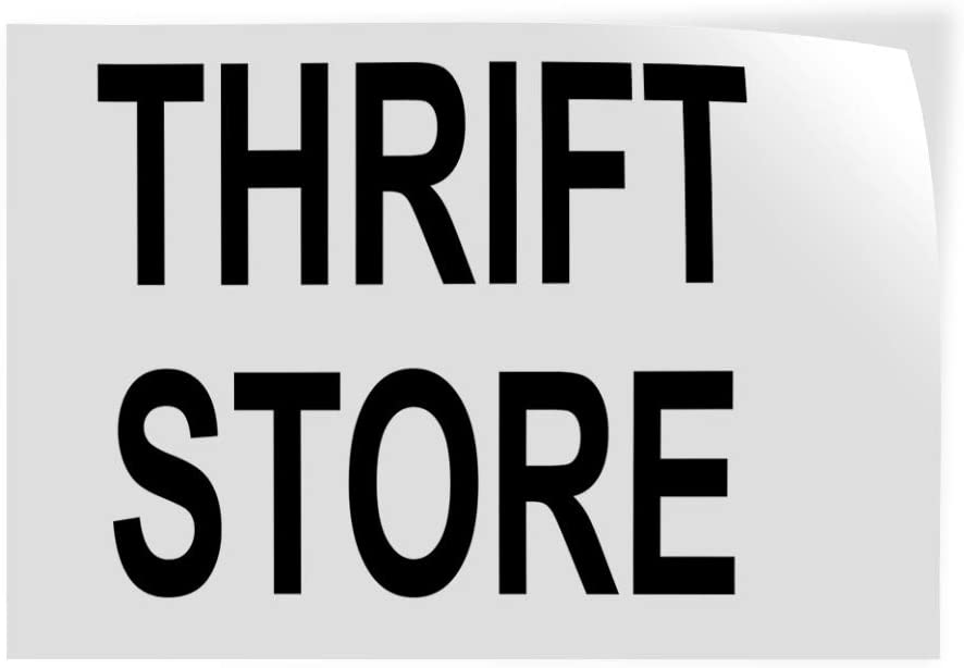 Decal Raleigh Mall Stickers Ranking TOP9 Multiple Sizes Thrift A Vi Store Black Industrial