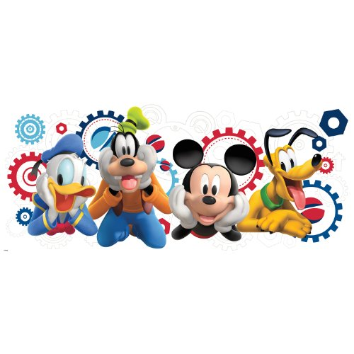 RoomMates Mickey & Friends - Mickey Mouse Clubhouse Capers Peel and Stick Giant Wall Decals