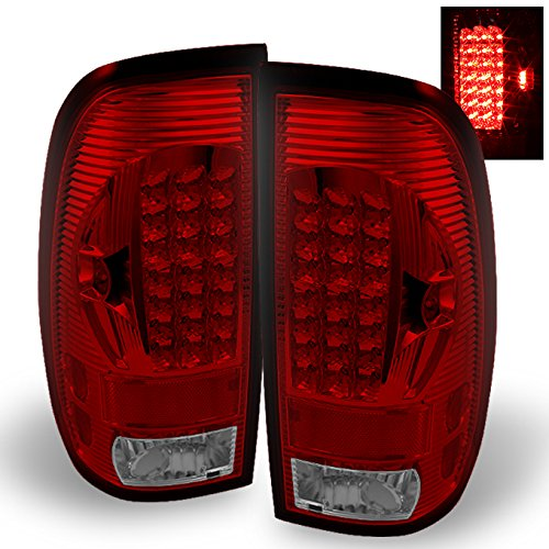For 97-03 Ford F150 F-150 Pickup Truck Styleside Model Red Clear LED Tail Lights...