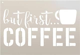 But First Coffee - Script & Bold - Word Art Stencil - STCL1650 - by StudioR12 (10