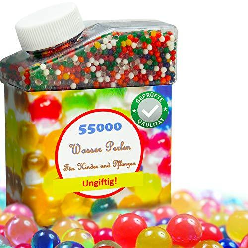 Wasserperlen für Kinder - 50000 Stk Perlen Mix bunt - Water beads aqua beads - Wassergel-Kugeln - Deko für Party Wasserkugeln Gelperlen für Pistole Pflanzen Blumen und Vase - Aqualinos Wasserball