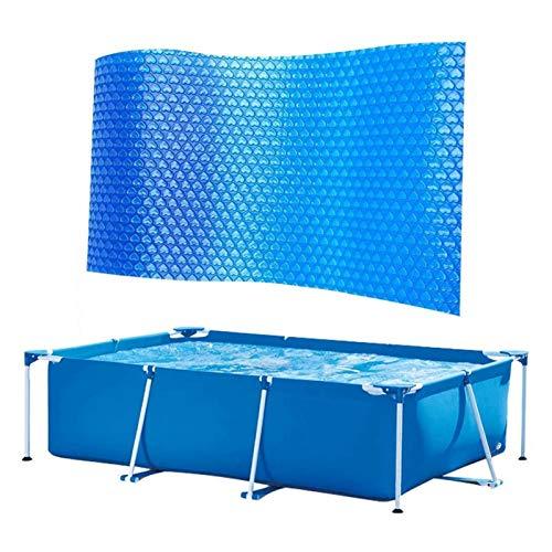 Solar Pool Cover for Frame Pools, Rectangular Swimming Pool Solar Cover...
