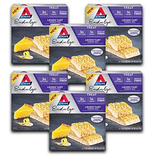 Atkins Endulge Treat Lemon Tart Dessert Bar. Rich and Creamy Dessert Favorites. Keto-Friendly. (30 Bars)