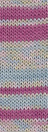 Lana Grossa Elastico Print 521 - Pink/Rosa/Graublau/Gelbgrün