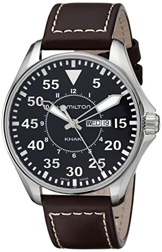 Hamilton Men's H64611535 Khaki King Pilot Black Watch with...