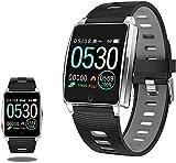 Reloj inteligente para hombres y mujeres de 1.3 pulgadas, pantalla táctil a color, rastreador de actividad, IP67, resistente al agua, para Android y iOS, reloj de fitness con ritmo cardíaco Sleep-A-A