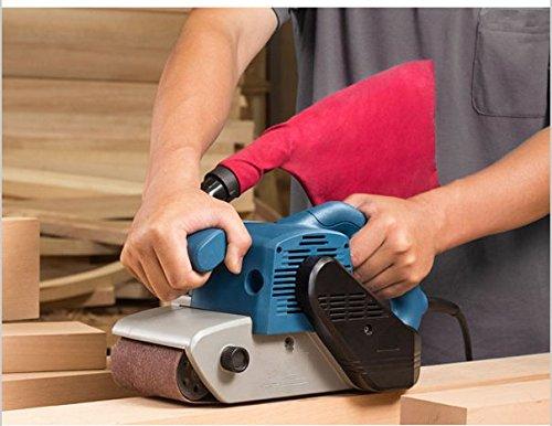 GOWE Ponceuse à bande 100 x 610 mm 1200 W haute puissance pour travail du bois 220–240 V (sac à poussière)