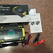 ANHTCZYX Cargador de batería de edición Mejorada, 12V 8A / 24V 4A, Automotive Smart Battery Maintainer para automóvil, Adecuado para carros de Golf, ...