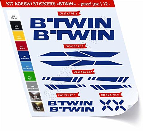 Adesivi Bici BTWIN_Kit 2_ Kit Adesivi Stickers 12 Pezzi -Scegli SUBITO Colore- Bike Cycle pegatina cod.0480 (Blu Royal cod. 049)