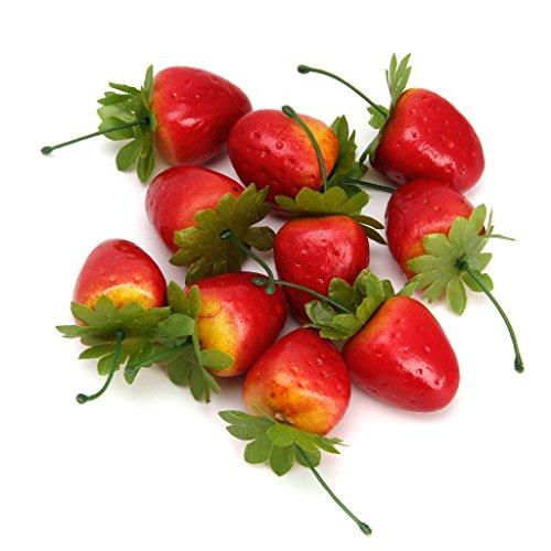Xuniu Modell Haus Küche Party Dekorative Gefälschte Erdbeere Künstliche Frucht 10 stücke