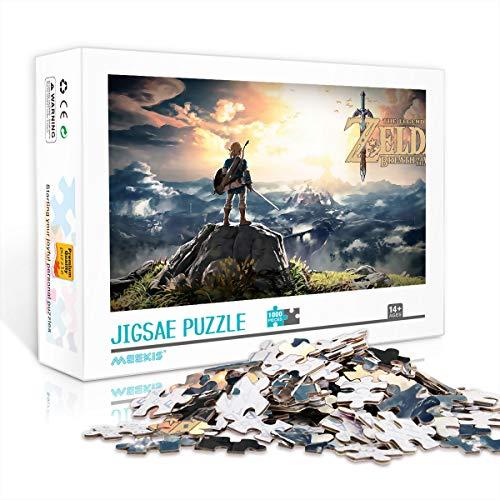 1000 Piezas de Rompecabezas para Adultos o Adolescentes The Legend of Zelda Classic Puzzle Juguetes educativos DIY Gift Fun Game 52X38cm