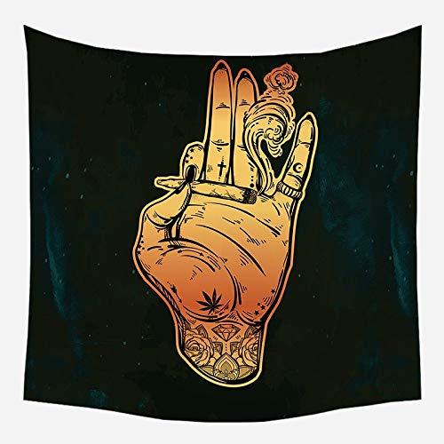 Mandala tapiz brujería astrología manta de sol hippie sala de estar decoración psicodélica tapiz telón de fondo tela a8 180x200cm