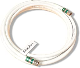 ShopBox White Quad Shield RG-6 Coax 75 Ohm Cable for (CATV, Satellite TV, or Broadband Internet) (3 Foot)