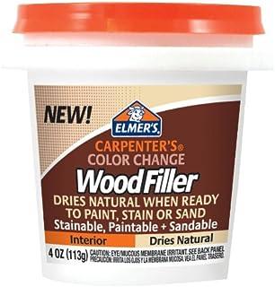 Elmer's Carpenter's Color Change 木质填充物,4 盎司,天然 (E912) 4盎司 天然