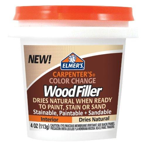 Elmer's Carpenter's Color Change Wood Filler, 4 oz., Natural (E912)