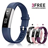Fitness Tracker AIMIUVEI, Activity Tracker Watch with 3 Replaceable Bands IP 67 Waterproof