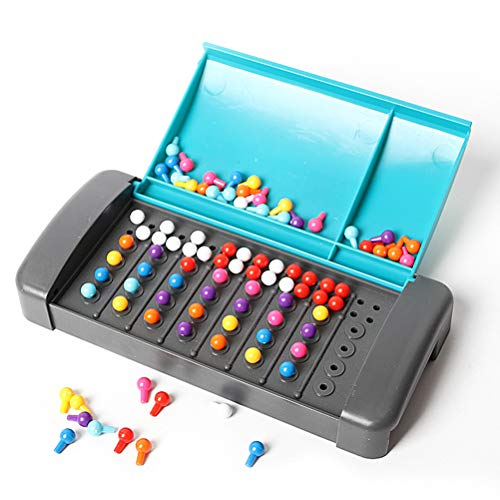 Kooshy Mastermind Board Game, Mastermind Code Breaking Mini Board Game Divertido Puzzle Juego de Mesa Regalo para niños niñas