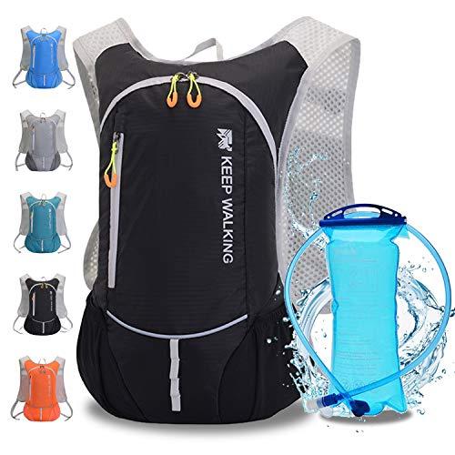 WLZP Mochila de hidratación con 2L Bolsa de Agua,Correr al Aire Libre Ciclismo Ciclismo Senderismo Escalada Esquí Caza Bolsa, Mochila de Agua con hidratación para Hombres y Mujeres