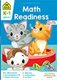 School Zone - Math Readiness Workbook - 64 Pages, Ages 5 to 7, Kindergarten to 1st Grade, Telling Time, Counting Money, Addition, Subtraction, and ... Workbook Series) (Deluxe Edition 64-Page)