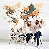 World Wall Map Anniversary Gift World Map Wooden Travel Push Pin Map Rustic Home Gift For Husband Wife Decoration For Thanksgiving Wall Art For Home & Kitchen Wall Art For Office