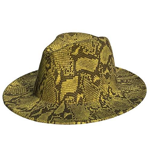 Xiang Ru Vintage Fedora Hut, Unisex Schwarz Wollhut Breiter Rand Panama Stil Hut für Strand, Party, Performance Requisiten und täglichen Gebrauch